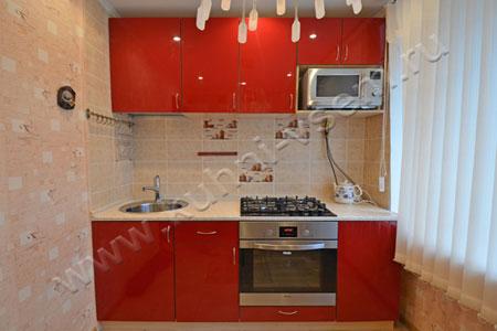 Кухня МДФ-ЛАК «Бордовый глянец»
