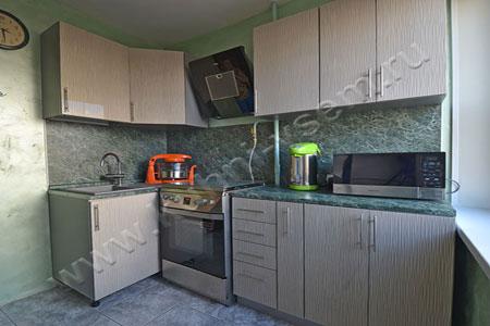 Кухня МДФ-ЛАК «Волна магнолия»
