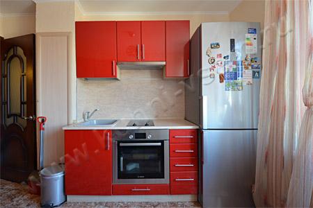Кухня из МДФ «Красный глянец металлик»