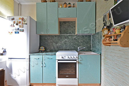 Кухня из пластика «Камень зеленый»