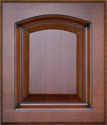 Деревянный фасад Дуб-Вишня