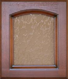 Деревянный фасад-витрина Дуб-Вишня