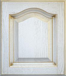 Деревянный фасад Дуб-Эмаль патина золото
