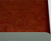 Кухонный фасад из пластика Олеандр красный
